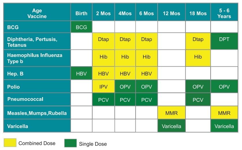 Immunisation Schedule in Dubai
